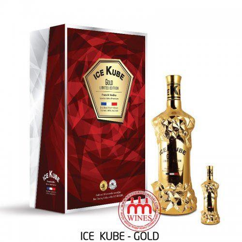 Rượu Vodka Ice Kube Gold Gift box