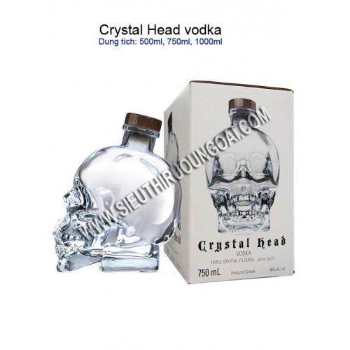 CRYSTAL HEAD VODKA - Rượu Đầu Lâu 1,750ml