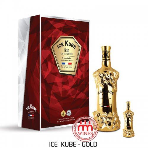 Rượu Vodka Ice Kube Gold Gift box