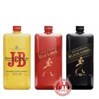 Set 3 Whisky - J&B + Red Label + Black Label PET 200ml