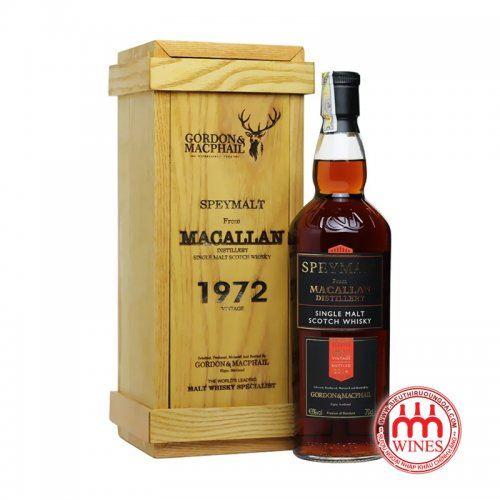 THE MACALLAN 1972 SPEYMALT G&M