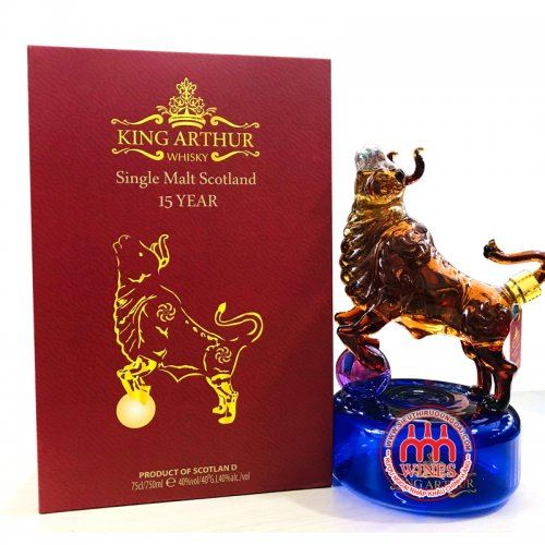 Rượu Trâu Single Malt 15YO Whisky King Arthur 750ml